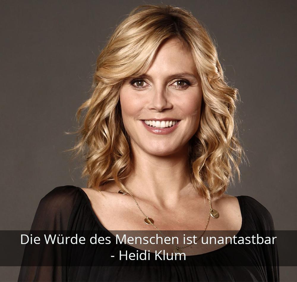 Zitat der Woche - Heidi Klum