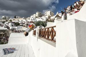 Der spätere Gewinner Dimitris Kyrsanidis im Finale © Predrag Vuckovic/Red Bull Content Pool