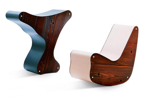 Zwei Multifunktions-Möbel-Skulpturen von Friedrich Kiesler