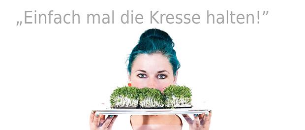Kresse halten © Grünstich